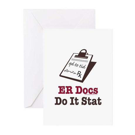 Funny Doctor ER Doc Greeting Cards (Pk of 10)