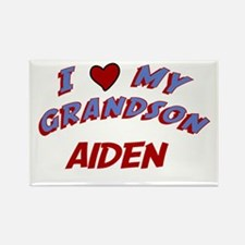 I Love My Grandson Aiden Rectangle Magnet