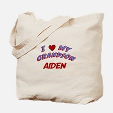 I Love My Grandson Aiden Tote Bag