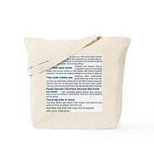 Worship a Librarian Tote Bag