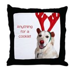 Rudolph the Red-Nosed Retriev Throw Pillow