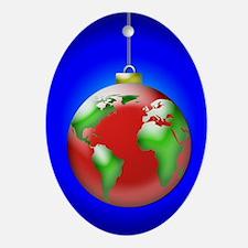 Earth Ornament Oval Ornament