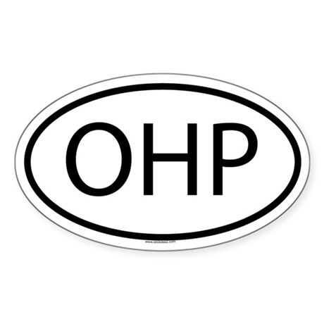 OHP Oval Sticker