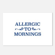 Allergic To Mornings Postcards (Package of 8)
