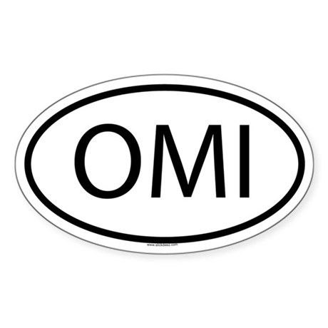 OMI Oval Sticker