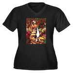 Path / GSMD Women's Plus Size V-Neck Dark T-Shirt