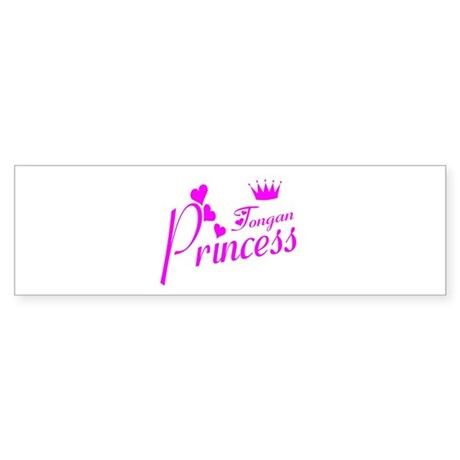 Tongan princess Bumper Sticker