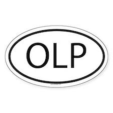 OLP Oval Bumper Stickers