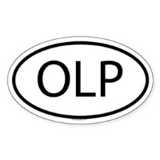 OLP Oval Decal
