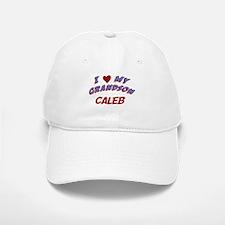 I Love My Grandson Caleb Baseball Baseball Cap