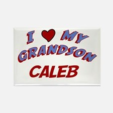 I Love My Grandson Caleb Rectangle Magnet