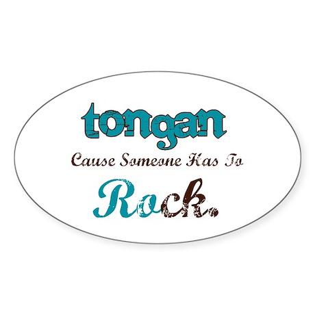 Tongan rocks Oval Sticker