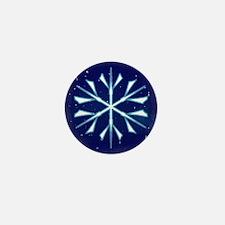 Starburst Snowflake Mini Button