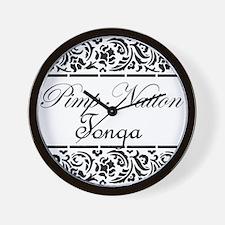 Pimp nation Tonga Wall Clock