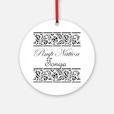 Pimp nation Tonga Ornament (Round)
