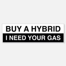 I Need Your Gas Bumper Car Car Sticker