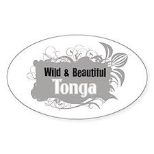 Wild Tonga Oval Decal