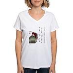 Year of the Cube Monkey Women's V-Neck T-Shirt