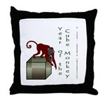 Year of the Cube Monkey Throw Pillow