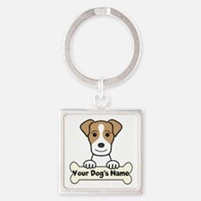 Personalized Jack Russell Square Keychain
