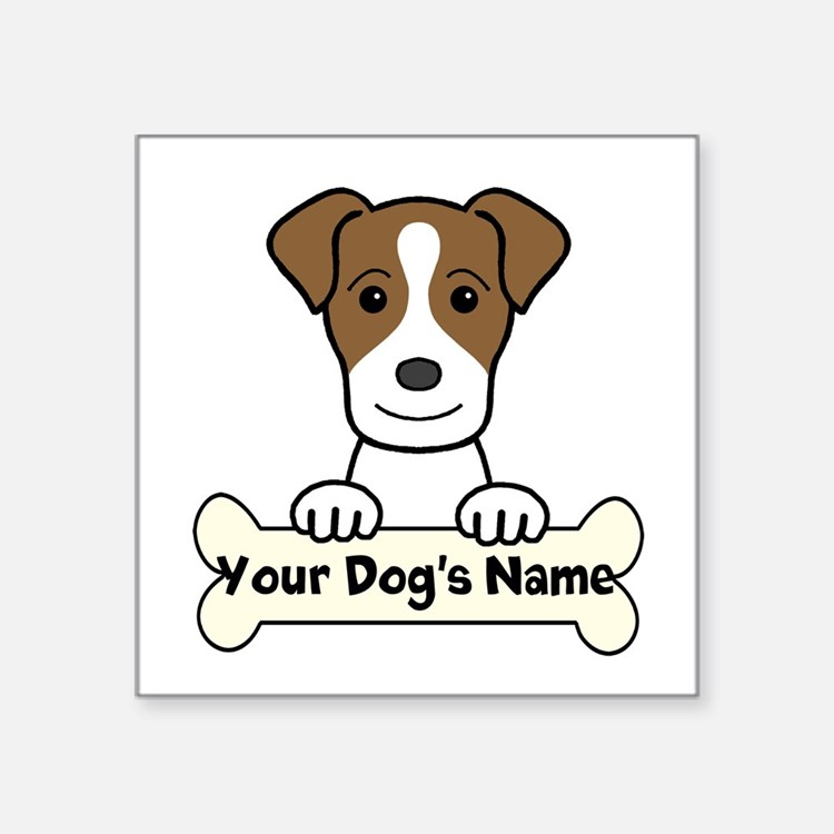 """Personalized Jack Russell Square Sticker 3"""" X"""