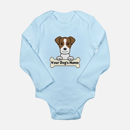 Personalized Jack Russ Long Sleeve Infant Bodysuit