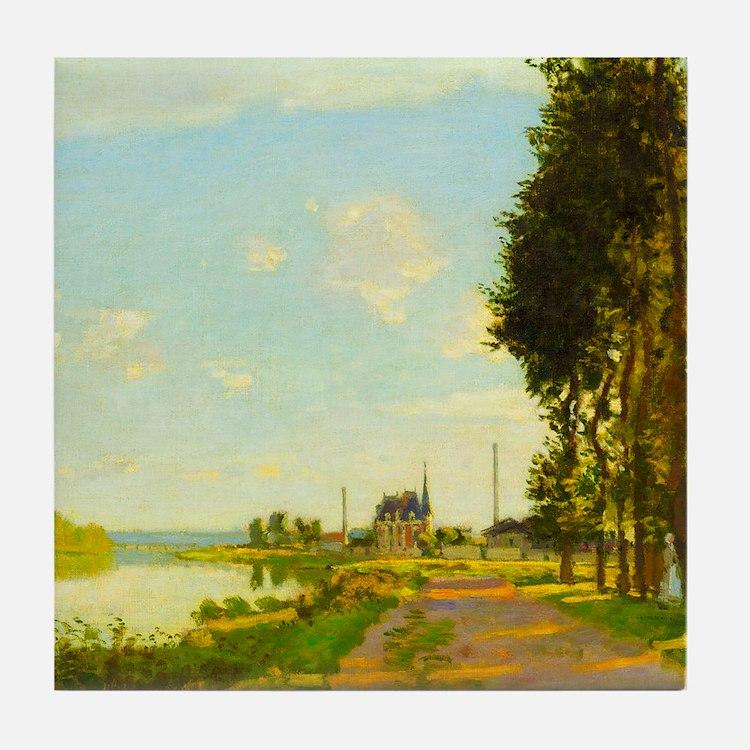 Argenteuil by Claude Monet Tile Coaster