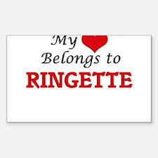 My heart belongs to Ringette Decal