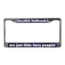 Furry People Swedish Vallhund License Plate Frame