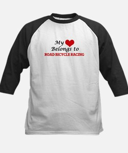 My heart belongs to Road Bicycle R Baseball Jersey