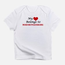My heart belongs to Road Bicycle Ra Infant T-Shirt