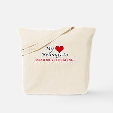 My heart belongs to Road Bicycle Racing Tote Bag