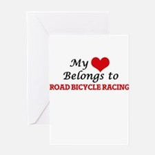 My heart belongs to Road Bicycle Ra Greeting Cards
