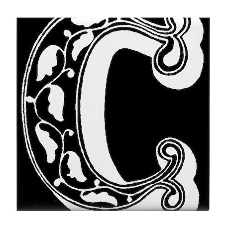 C-Decorative Letter Tile Coaster