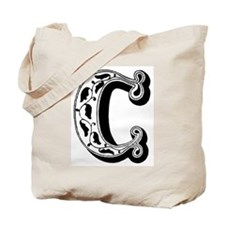 C-Decorative Letter Tote Bag