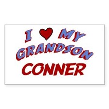 I Love My Grandson Conner Rectangle Decal