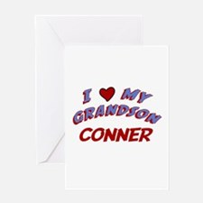 I Love My Grandson Conner Greeting Card