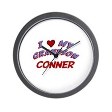 I Love My Grandson Conner Wall Clock