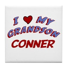 I Love My Grandson Conner Tile Coaster