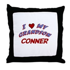 I Love My Grandson Conner Throw Pillow