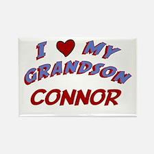 I Love My Grandson Connor Rectangle Magnet