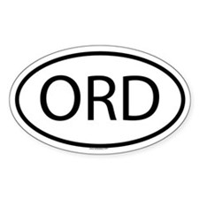 ORD Oval Stickers