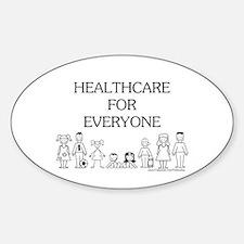 Healthcare 4 Everyone Oval Bumper Stickers