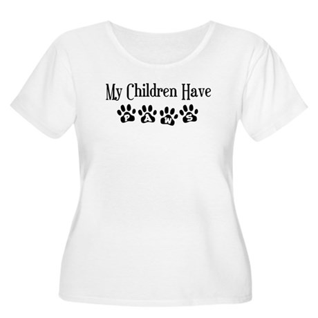 My Children Have Paws Women's Plus Size Scoop Neck
