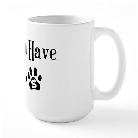 My Children Have Paws Large Mug