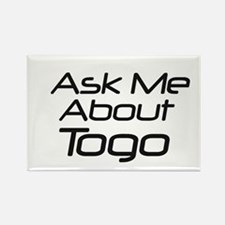 ask me about Togo Rectangle Magnet