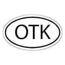OTK Oval Decal