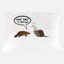 platypus awkward encounter Pillow Case