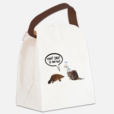 platypus awkward encounter Canvas Lunch Bag
