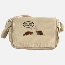 platypus awkward encounter Messenger Bag